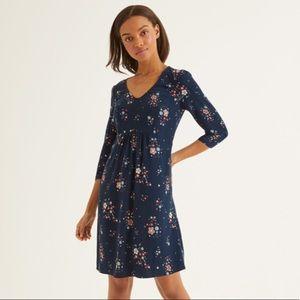 Boden Eliza Blue Floral Dress. Size 2R